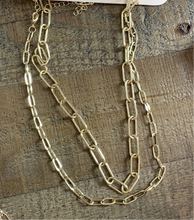 Load image into Gallery viewer, Gold Chain Link Necklace Set