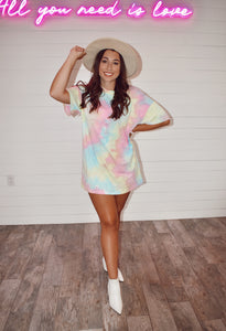 Tie Dye Dreams T-Shirt Dress 2.0