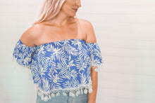 Load image into Gallery viewer, Off the Shoulder Tassel Top