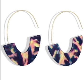 Bohemian Acrylic Earrings - Black