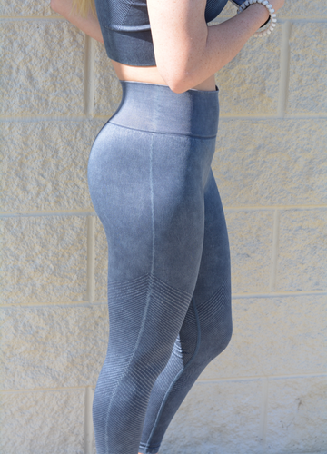 Navy Compression Leggings