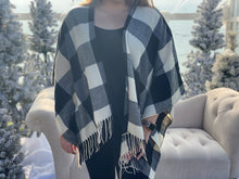 Load image into Gallery viewer, Buffalo Plaid Poncho
