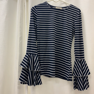 Striped Navy Bell Sleeve