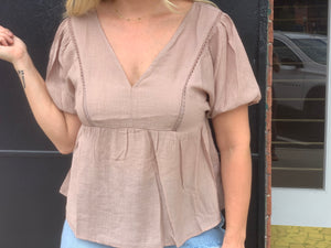 Taupe Dirty to Me Top