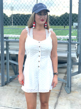 Load image into Gallery viewer, White Eyelet Romper