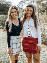 Load image into Gallery viewer, Can't fight this feeling Red Plaid Skirt