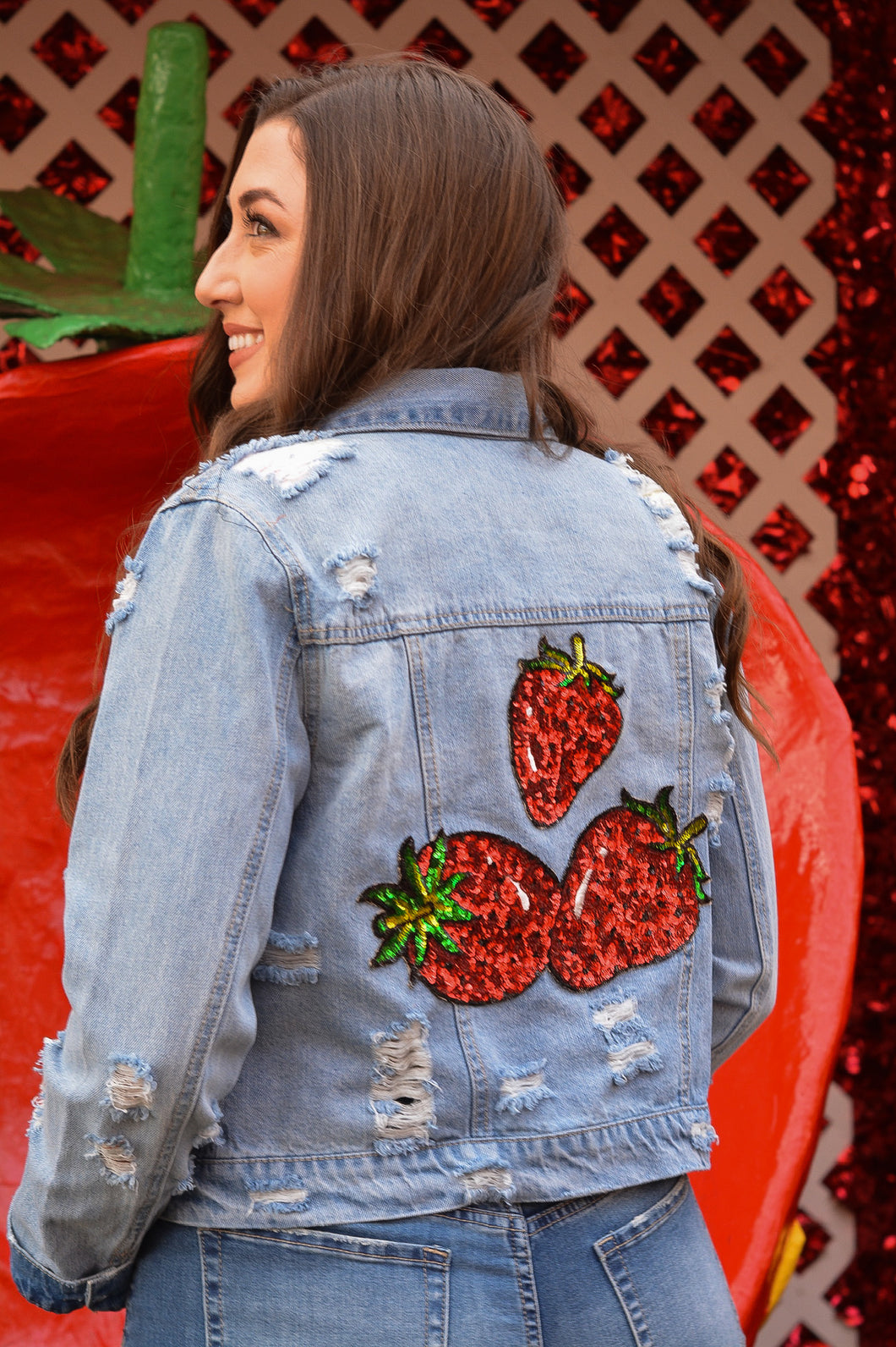 The Glam Red Berry Jacket
