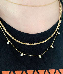 Rope & Chain Glam Layered Necklace