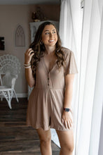 Load image into Gallery viewer, Mocha Ribbed Romper