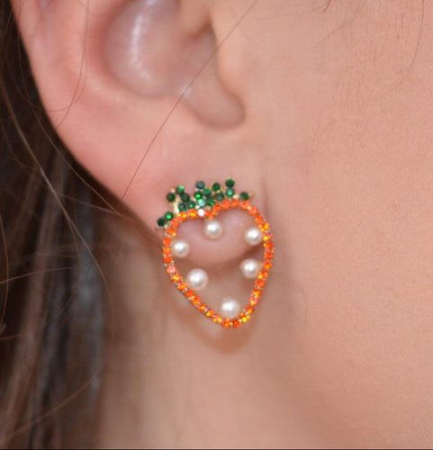 Strawberry Pearl Studs