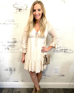 Simply Summer Ivory & Gold Dress