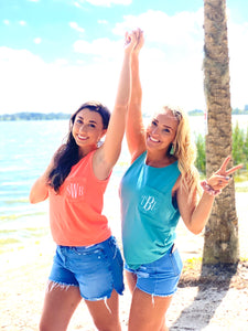 Sea foam Monogram Tank