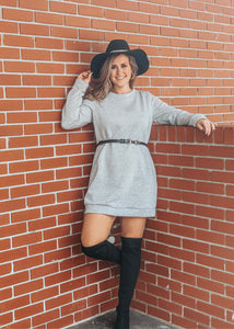 Heather Grey Sweater Dress