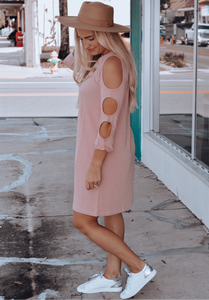 Day Date Dusty Pink Dress