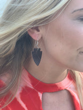 Load image into Gallery viewer, Fear The Spear Leather Earrings