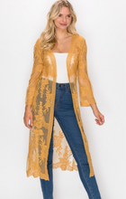 Load image into Gallery viewer, Somewhere Sweet Mustard Kimono