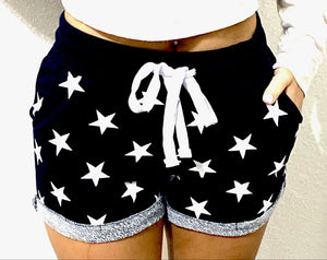 Terry Star Print - Black