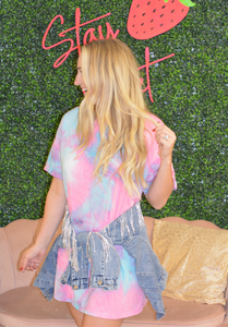 Cotton Candy Dreams Tshirt Dress