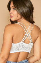 Load image into Gallery viewer, White Star Bralette
