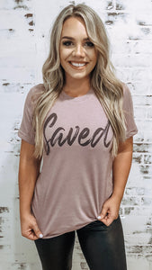 SAVED. Graphic TEE