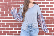 Load image into Gallery viewer, Grey Boho Sweater