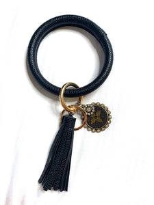Luxe Black Upcycled Key Ring