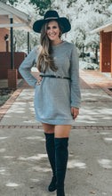 Load image into Gallery viewer, Heather Grey Sweater Dress