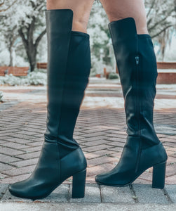 NY NY Black Knee High Boots