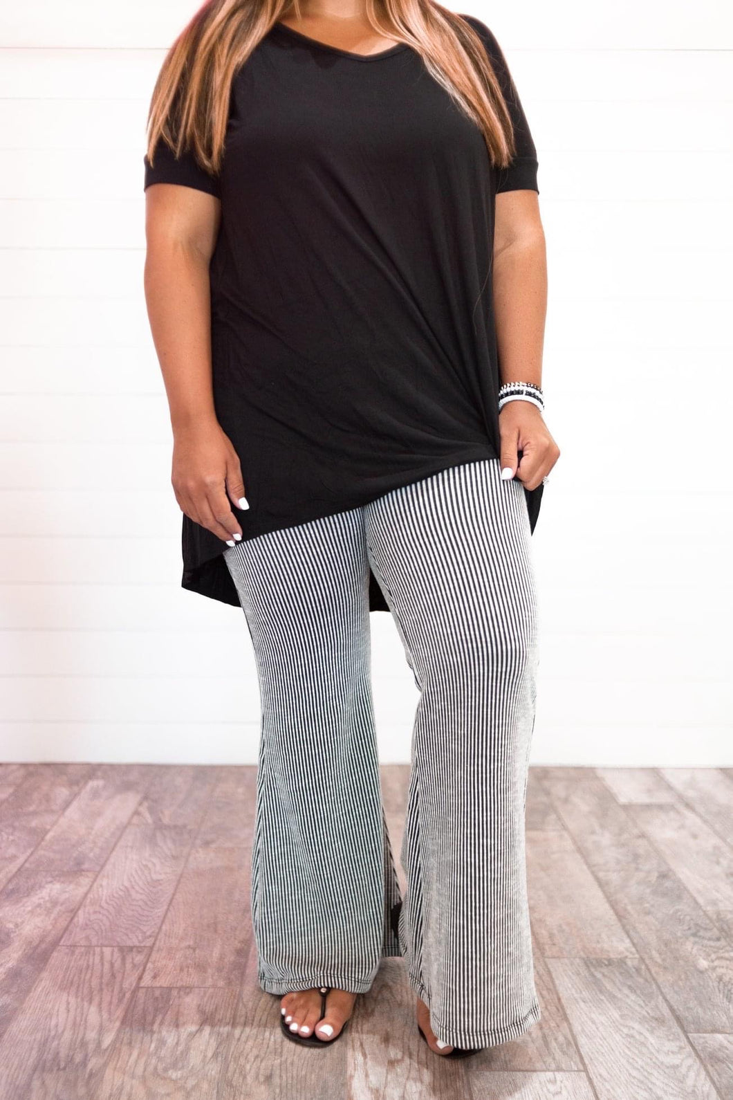 Striped Dreams Bell Bottoms - Curvy
