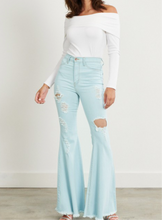 Load image into Gallery viewer, Alexandra Distressed Bell Bottoms