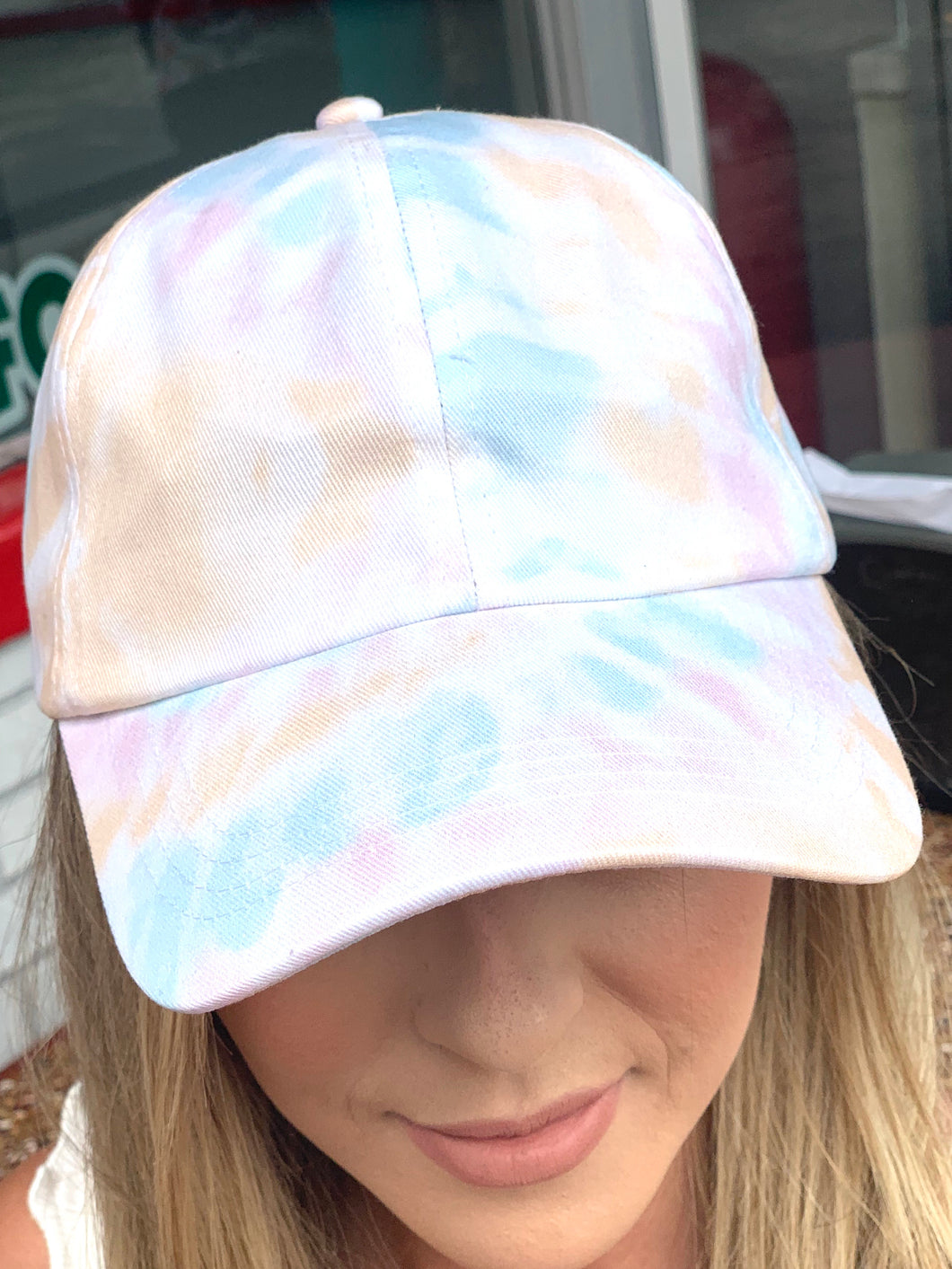 Blushing Blue Tie Dye Hat