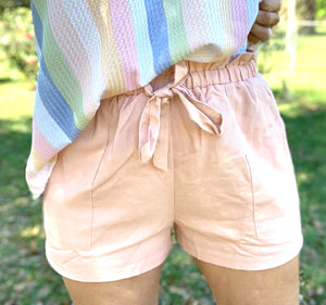 Champagne Pink Paperback Shorts