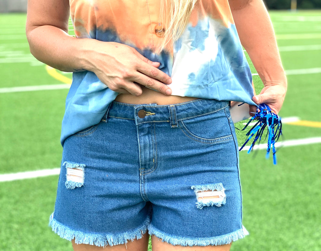 Call My Cutie Distressed Shorts