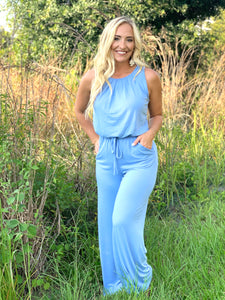 Spring Blue Jumpsuit