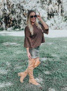 Kylie Microsuede Knee High Boots