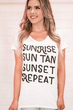 Load image into Gallery viewer, Sunrise Sun Tan Tee