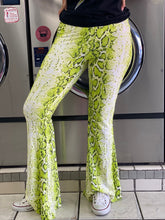 Load image into Gallery viewer, Skin Bell Bottom Leggings - NEON GREEN