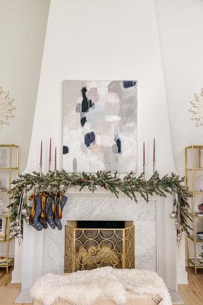 Christmas Garland, How to Decorate Your Mantel