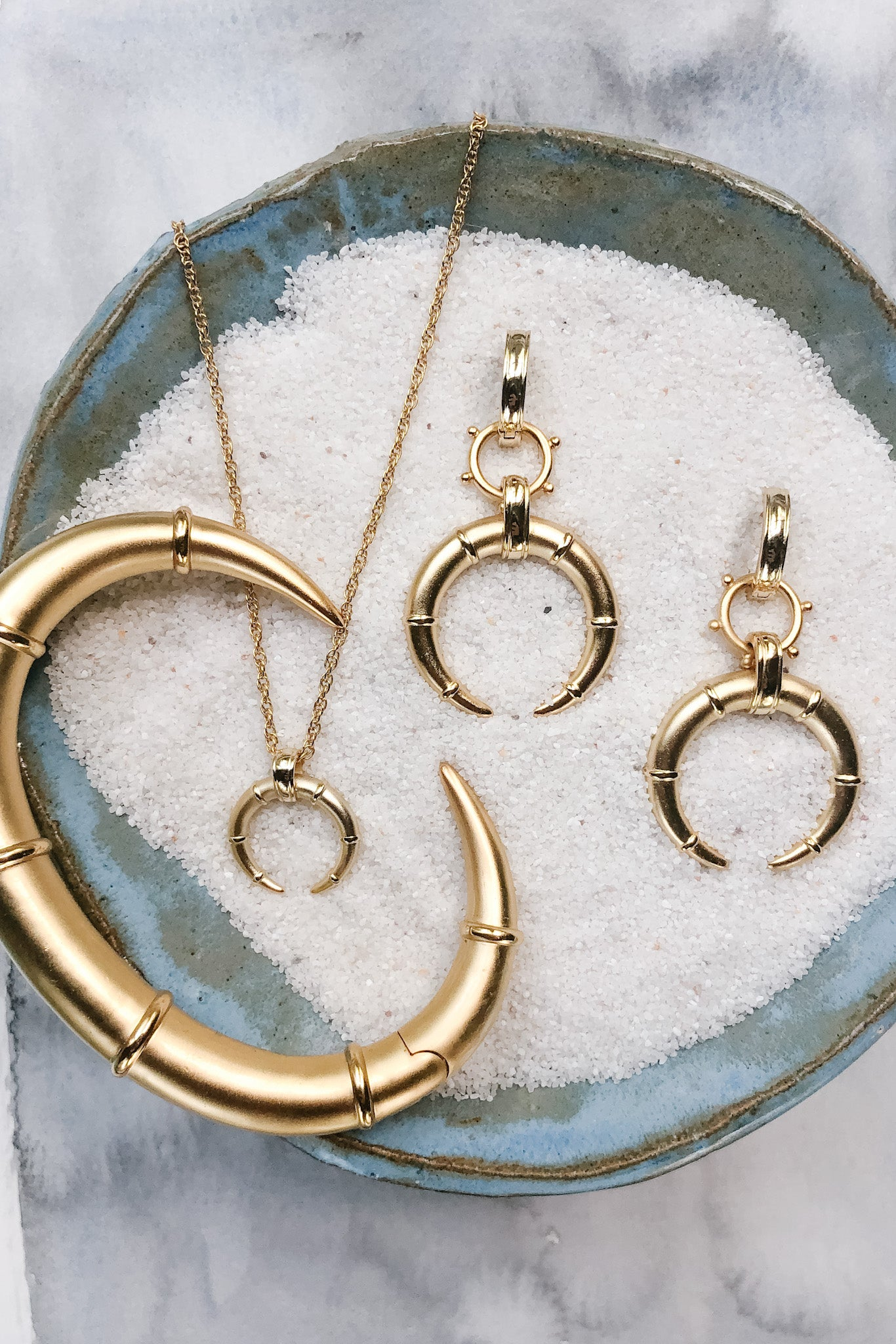 Ashley Childers, Hestia Horn Gold Jewelry