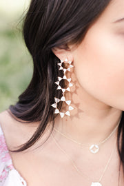 Ashley Childers, Flora Earrings in White MOP
