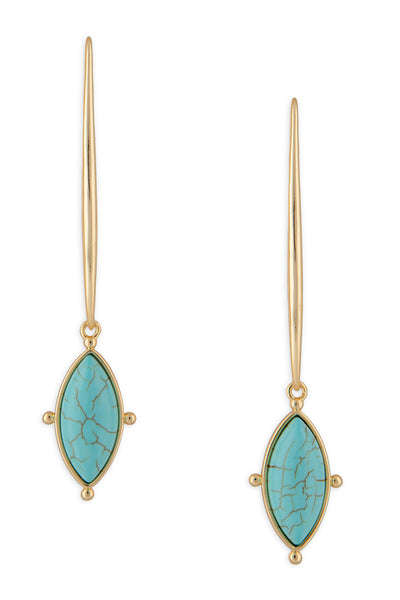 Ashley Childers, Lauren Earrings Turquoise