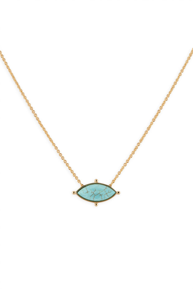 Ashley Childers, Lauren Necklace Turquoise