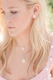 Ashley Childers, Quatrefoil Stud Earrings