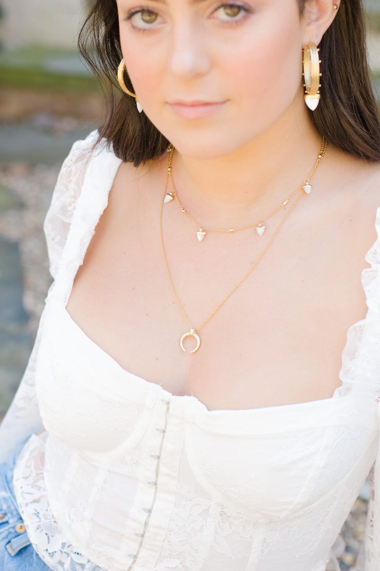 Ashley Childers, Hestia Horn Necklace