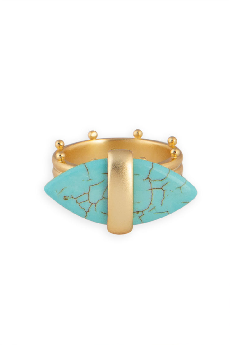 Ashley Childers, Aegean Ring, Turquoise