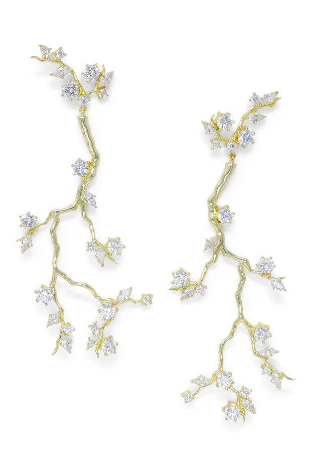 Ashley Childers, Branch Statement Earrings in Gold