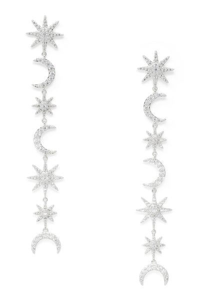 Ashley Childers, Celeste Earrings in Silver