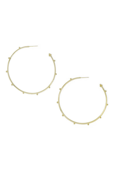 Ashley Childers, Ball Gold Hoops, Large