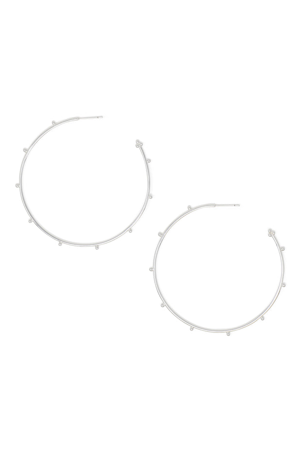Ashley Childers, Ball Silver Hoops, Large