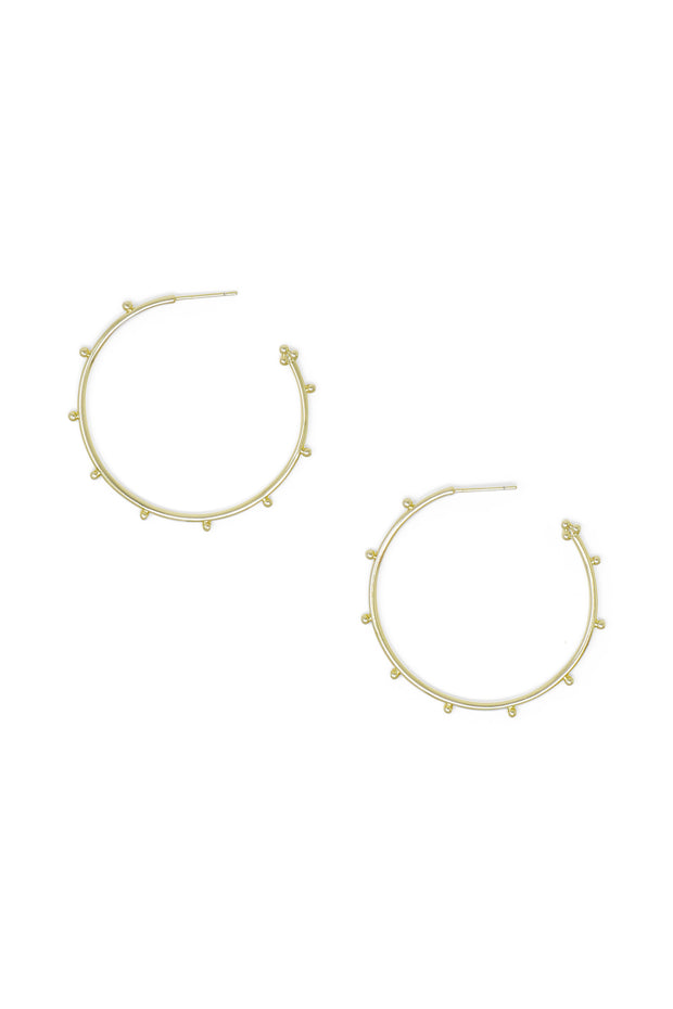 Ashley Childers, Ball Gold Hoops, Medium
